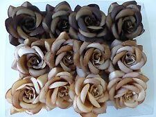 Set of 12 Rose Satin Flower Hair Accessory/ Hairclip, Ponytail Holder Ornament