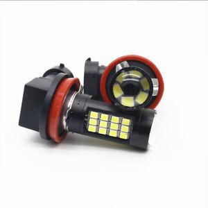 1Pair H11/H8 42 SMD LED White 2835 Alloy Canbus Error Free Fog Light Bulb 6500K