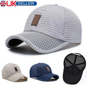 Mens Women Mesh Breathable Baseball Sports Cap Sun Protection Trucker Summer Hat