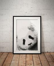 Abstract Panda print, poster, prints, posters, watercolour, wallart, gift