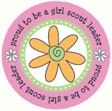 6 SRM Be A Girl Scout Leader Stickers #18035 Scouts Scouting Proud To Be A