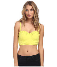 NWT  $59  MINK PINK  CITRUS YELLOW DON'T CROSS ME BUSTIER  SMALL  TOP ONLY