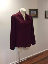 Womens Peter Morrissey Long Sleeve  Blouse Size 10