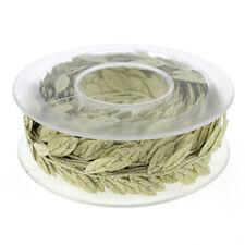 New Lace Trim Craft Leaf Leaves Vine Garlands Ribbon Wedding Dress Bag DIY NT