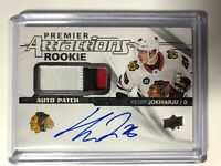 2018-19 UD PREMIER JOKIHARJU ROOKIE ATTRACTIONS AUTO 3-CLR PATCH /99