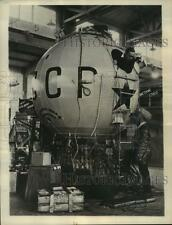 1933 Press Photo Aluminum Soviet Balloon to Explore Stratosphere, Russia