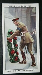 KING GEORGE V  Cenotaph Wreath Laying   Vintage Illustrated Card