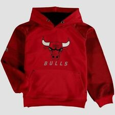 Chicago Bulls Armour II Pullover Hoodie Youth Large Red Cool Logos NBA