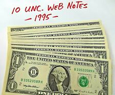 Lot of 10 Rare *Web Notes* 1995 Bh 6/8 Unc's Invest or Resell - Free Shipping