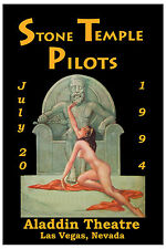 ROCK: Stone Temple Pilots  Aladdin Theatre Las Vegas Nevada Concert Poster 1994