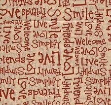 Love,Friends, Red Words on Kraft/Tan Tissue Paper #0557- 240 Sheets Bulk Supply