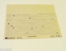 Microfich Ersatzteilkatalog Peugeot Partner Stand 06/1997
