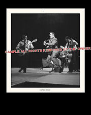 ELVIS PRESLEY PHOTOGRAPH   w. Scotty Moore  8X10 black back drop mint photo
