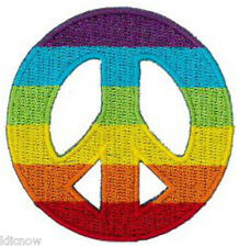 """PEACE RAINBOW CND EMBROIDERED PATCH 6CMDia(2 1/2"""" Dia)"""
