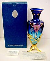 Fenton Glass Favrene Connoisseur Amphora Vase With Stand MIB