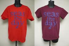 NEW Seas The Day Adult Mens Sizes S-M-L-XL-2XL Graphic Funny Sailing Boat Shirt