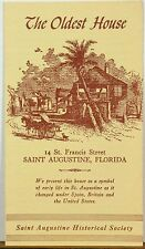 1966 The Oldest House Saint Augustine Historical Society information brochure b