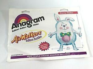 "Vintage Anagram Balloon Buddies Air Walker Bunny Rabbit Easter Mylar/Foil 19x21"""