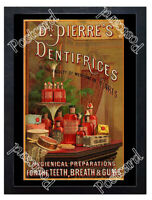 Historic Dr Pierre's Dentifrice, c.1880-1900 Advertising Postcard