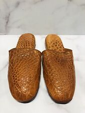Battaglia Beverly Hills Light Brown Crocodile Men's Slippers Shoes