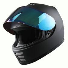 DOT Motorcycle Youth Full Face Helmet Kids Bike Shark Marine Matt Black