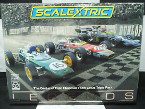 Scalextric C4184A 1:32 The Genius of Colin Chapman Team Lotus Triple Pack