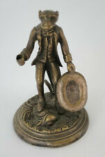 Jugendstil Figur Affe mit Hut Bronze Wien