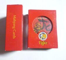 MALAYSIA Playing Cards TIGER BEER Chinese MAHJONG Grand Treasures 2012 Red