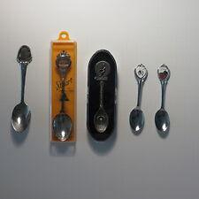 Lot of 5 Collectors Spoons Australia, Utah, Iowa, MN, Gish Pewter Corning Glass
