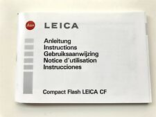 Leica CF Compact Flash Instruction Book / Manual / User Guide