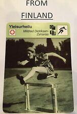 """BABE"" DIDRIKSON ZAHARIAS 1980 FINNISH Sportscaster card From Finland #84-2010"