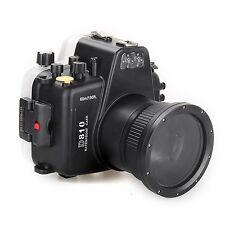 Meikon 60m/195ft Waterproof Underwater Camera Housing Case Diving for Nikon D810