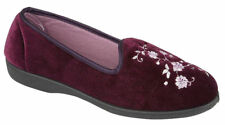 Ladies Classic Velvet Embroidery PUMPS Women Shoes Plimsols Trainers BOOTS Uk-5 Purple
