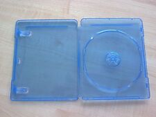 100 12mm Blu-Ray Disc Case Single DVD Case Movie Blue BL8