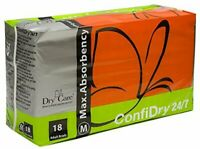 24/7 Dry Care Max Absorbency Adult Diaper by ConfiDry - Medium (Set of 18)