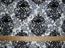 Cotton Fabric Michael Miller Goth Damask Punk Skulls Calaveras vintage BTY