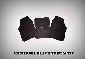 MITSUBISHI COLT (2004 on) UNIVERSAL Car Floor Mats Black & BLACK