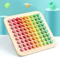 9x9 Multiplikationstabelle Mathematik Blöcke Baby Holzspielzeug Montessori I7Z7