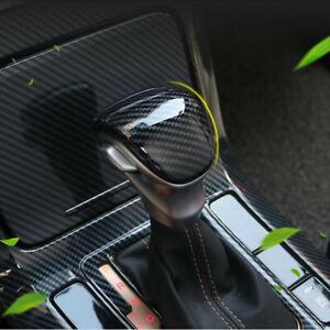 For Kia Forte Seltos 2019-2021 Carbon Fiber Interior Gear Shift Knob Cover Trim
