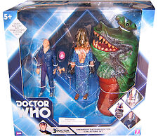 "5"" Doctor Who Enemies of the 3rd Dr Auton, Omega, Drashig Action Figure Set"