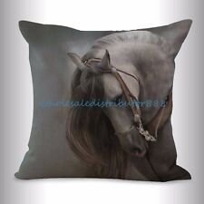 US SELLER- wholesale pillow covers equine horse equestrian cushion cover