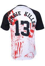 ZOMBIE KILLER 13 BASEBALL T-Shirt Zombie Collection Goth, Horror, Halloween