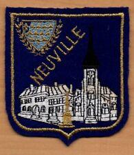 ANCIEN Ecusson feutrine brodé Blason + Site Ville NEUVILLE-SUR-ESCAUT ( Nord )