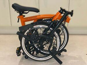 Brompton M6L Folding Bike Orange Black Edition 2020 *** Barcelona ***