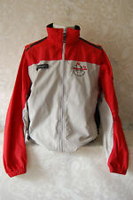 Columbia Soft Shell Coat Jacket Convertible Vest Vented Men Med Red Gray