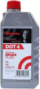 Brembo Liquido Olio Freni Dot 4 Auto Moto Veicoli con ABS Bassa Viscosità 500 ml