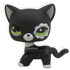 Littlest Pet Shop RARE Black Short Hair Cat kitty Animal Figure Tpy LPS #2249