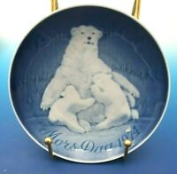 1974 Bing & Grondahl Mother's Day Plate POLAR BEAR AND CUBS