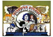 Vampire Circus - David Prowse - Hammer Horror - A4 Laminated Mini Movie Poster