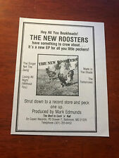 """1984 VINTAGE 4X5.25"""" ALBUM PROMO PRINT Ad HEY ALL YOU BEAKHEADS THE NEW ROOSTERS"""